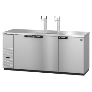 HoshizakiDD80-S, Refrigerator, Three Section, Stainless Steel Back Bar Direct Draw, Solid Doors