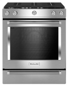 30-Inch 5-Burner Gas Slide-In Convection Range - Stainless Steel ***FLOOR MODEL CLOSEOUT PRICING***