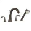 Oil Rubbed Bronze Fluent Deck-Mount Tub Filler Less Personal Shower
