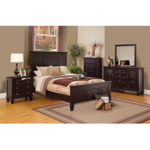 Sandy Beach Cappuccino California King Four-piece Bedroom Set