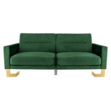 Tribeca Foldable Sofa Bed - Emerald Green / Brass