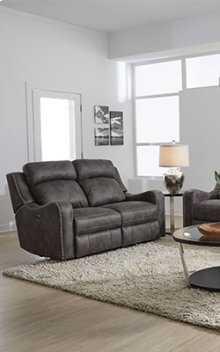 STANDARD 4148633 Bankston Grey Power Reclining Loveseat