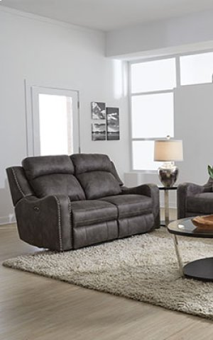 STANDARD 4148593 Bankston Grey Power Reclining Sofa