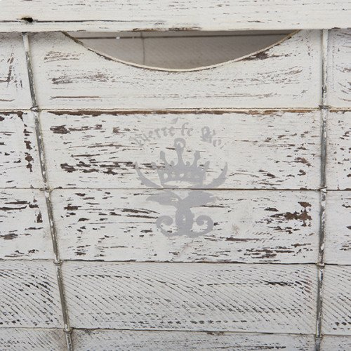 Square Storage Crate in White