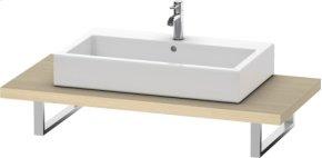 Console For Above-counter Basin And Vanity Basin, Mediterranean Oak (real Wood Veneer)