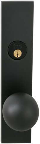 Exterior Modern Mortise Entrance Knob Lockset with Plates in (US10B Oil-rubbed Bronze, Lacquered) Product Image