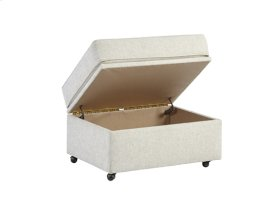 Ottoman - Off-White Chenille Finish