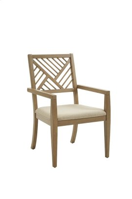 Upholstered Dining Arm Chair (2/Ctn) - Truffle Finish