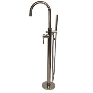 Maidstone Contemporary Freestanding Bathtub Faucet With Handshower, Chrome