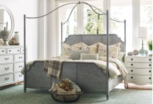 Metal Canopy Bed, Queen 5/0
