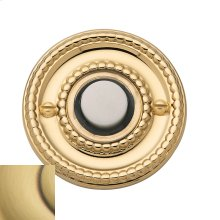 Satin Brass and Brown Beaded Bell Button