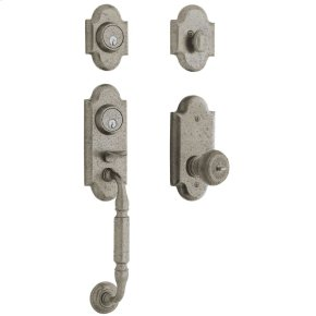 Distressed Antique Nickel Ashton Two-Point Lock Handleset