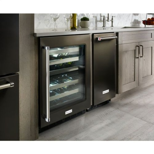KitchenAid® 15'' Automatic Ice Maker - Black-on-Stainless