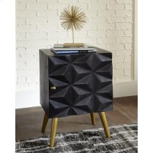 Modern Dark Brown and Gold Accent Cabinet