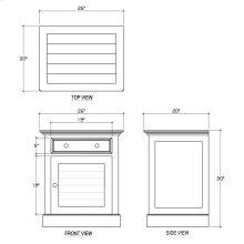 Shutter Nightstand Cabinet