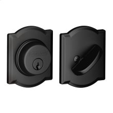 Single Cylinder Deadbolt with Camelot trim - Matte Black