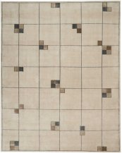 CHRISTOPHER GUY WOOL & SILK COLLECTION CGS04 ECRU RECTANGLE RUG 6' x 9'