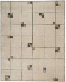 Christopher Guy Wool & Silk Collection Cgs04 Ecru Rectangle Rug 6' X 9'