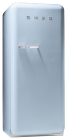 50'S Style Refrigerator with ice compartment, Pastel Blue, Right hand hinge