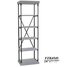 Hanover Metal and White Wood Etagere