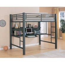Contemporary Black Metal Loft Bed