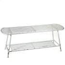 Distressed White Bench Product Image