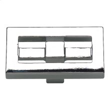 Nobu Rectangle Knob 1 3/4 Inch - Polished Chrome