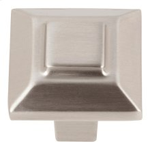 Trocadero Small Square Knob 1 Inch - Brushed Nickel