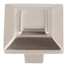 Trocadero Small Square Knob 1 Inch - Brushed Nickel