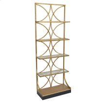 Melrose Gold & Glass 4 Tier Etagere