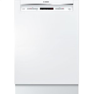 "Bosch300 Series 24"" Recessed Handle Dishwasher SHE863WF2N White"