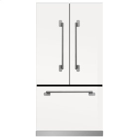 White Elise French Door Counter Depth Refrigerator