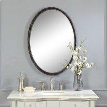 Sherise Bronze Oval Mirror