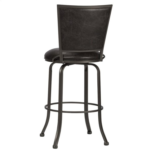 Belle Grove Commercial Grade Swivel Counter Stool - Charcoal