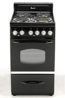 "Model ER2003CB - 20"" Electric Range - Black"