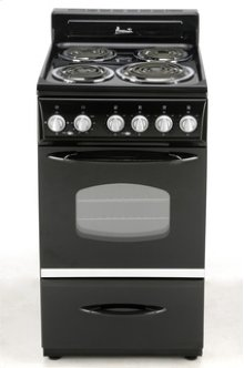 "Model ER2003CB - 20"" Electric Range - Black"