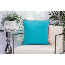 "Outdoor Pillow L1589 Coral/turquoise 20"" X 20"" Throw Pillow"