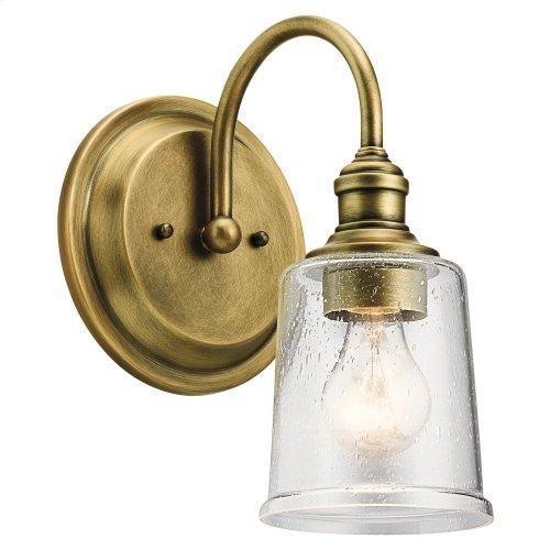 Waverly 1 Light Wall Sconce Natural Brass