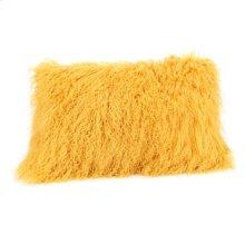 Lamb Fur Pillow Rect. Gold