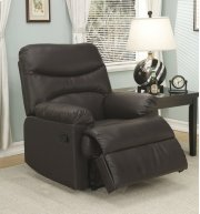 Brown Leather Match Recliner Product Image