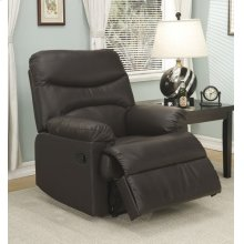 Brown Leather Match Recliner