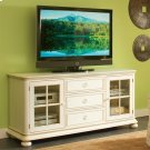 Placid Cove - 72-inch TV Console - Honeysuckle White Finish Product Image