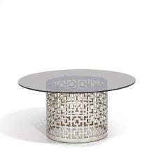 Carole Round Gray Glass CoffeeTable