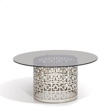 Carole Round Gray Glass CoffeeTable