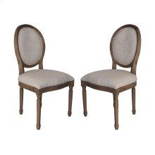 Allcott Side Chair In Toffee - Set of 2