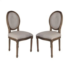 Allcott Side Chair In Toffee - Set of 2