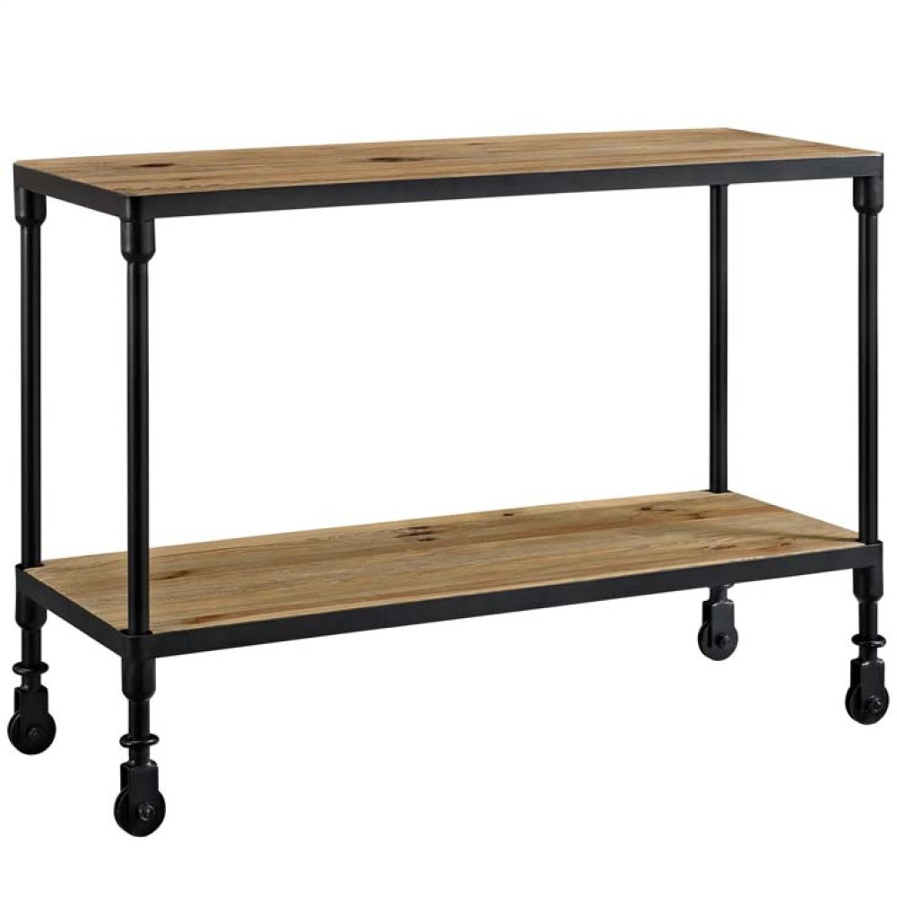 """Raise 42"""" Wood TV Stand in Brown"""