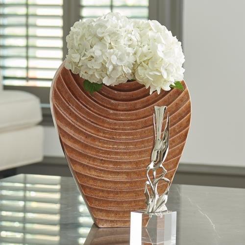 Ripple Vase-Orange-Med