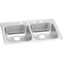 "Elkay Celebrity Stainless Steel 33"" x 21-1/4"" x 5-3/8"", Equal Double Bowl Drop-in Sink"
