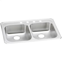 "Elkay Celebrity Stainless Steel 33"" x 21-1/4"" x 5-3/8"", Equal Double Bowl Drop-in Sink"